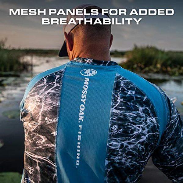 Mossy Oak Graphic Tshirt 4 HUK Mossy Oak Double Header Vented Fishing Long Sleeve Shirt, Mossy Oak Hydro Reflex, L