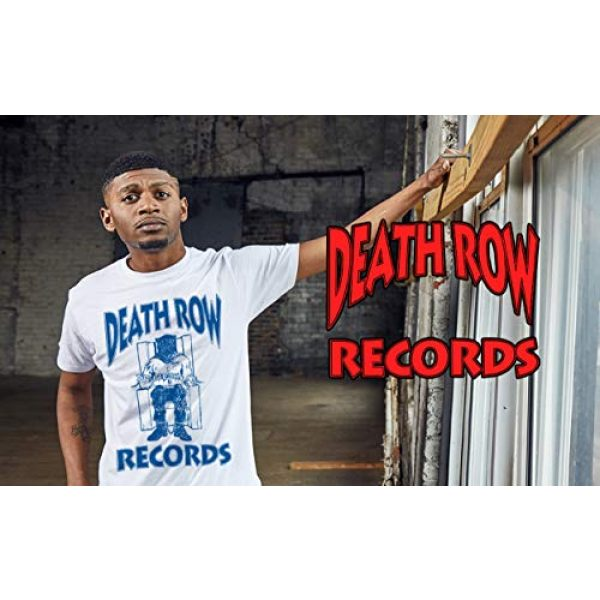 Ripple Junction Graphic Tshirt 2 Death Row Records Adult Unisex Blue Logo Light Weight 100% Cotton Crew T-Shirt