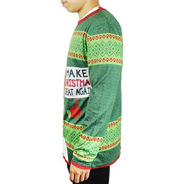 Faux Real Graphic Tshirt 4 Trump Shirt, Christmas Top for Adults (Green, Size Medium)