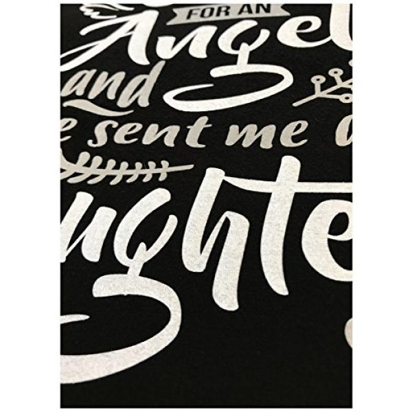 Ann Arbor T-shirt Co. Graphic Tshirt 5 I Asked God for an Angel, He Sent me a Daughter | Dad Daddy Father's Day T-Shirt