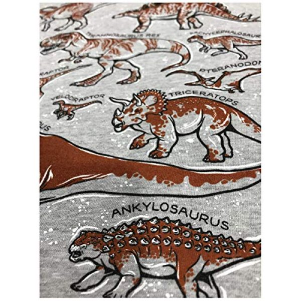 Ann Arbor T-shirt Co. Graphic Tshirt 5 Dinosaur Species | Dino Fan Party Costume T-Rex Raptor Shirt Men Women T-Shirt