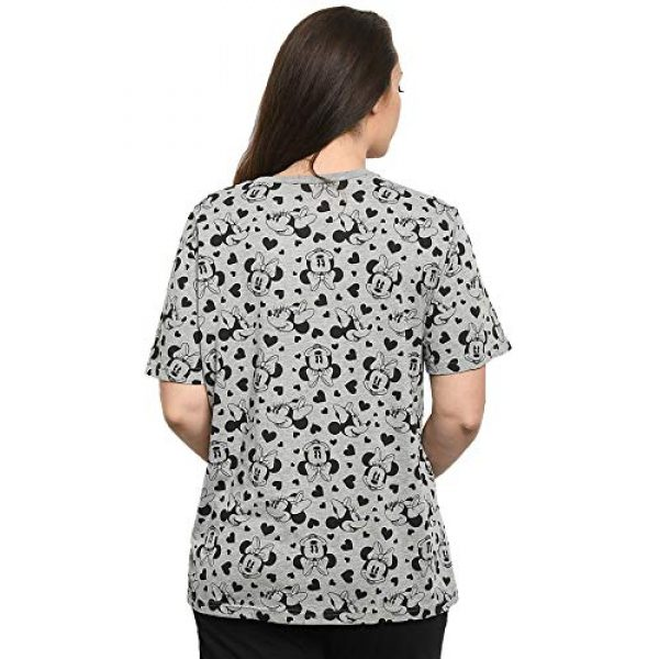 Disney Graphic Tshirt 4 Womens T-Shirt Mickey & Minnie Mouse All Over Print