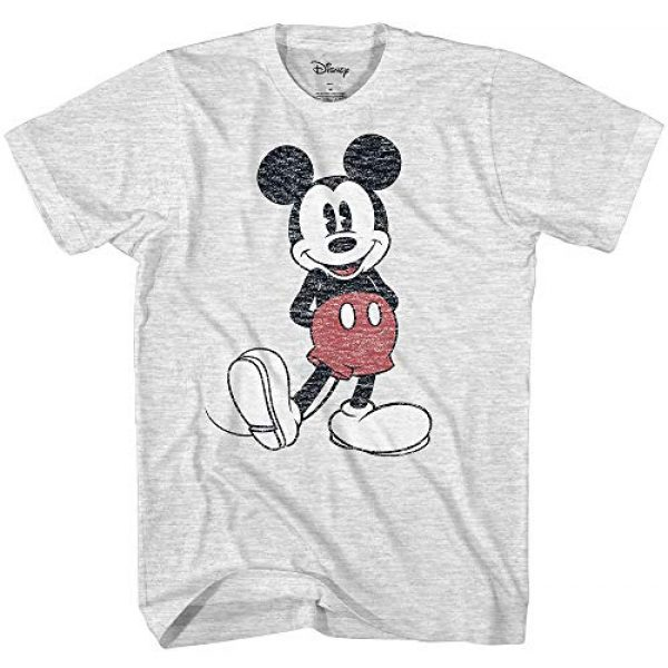 Disney Graphic Tshirt 1 Men's Full Size Mickey Mouse Distressed Look T-Shirt