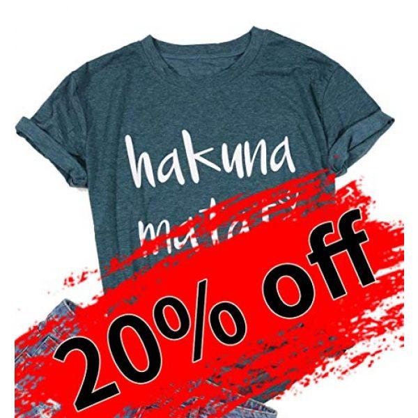 DUTUT Graphic Tshirt 7 Hakuna Matata T Shirts Women Funny Letter Print Short Sleeve Casual Loose Graphic Tee Tops