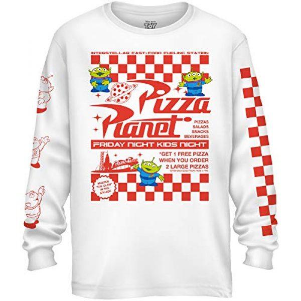 Disney Graphic Tshirt 1 Pixar Toy Story Pizza Planet Alien Flyer Long Sleeve Men's T-Shirt