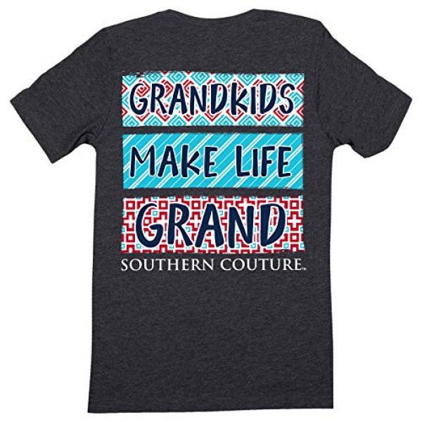 Southern Couture Graphic Tshirt 1 SC Classic Grandkids Make Life Grand Womens Classic Fit T-Shirt - Dark Heather