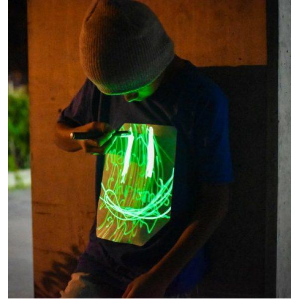 Illuminated Apparel Graphic Tshirt 4 Interactive Glow in The Dark T-Shirt - Fun for Birthday Parties & Festivals