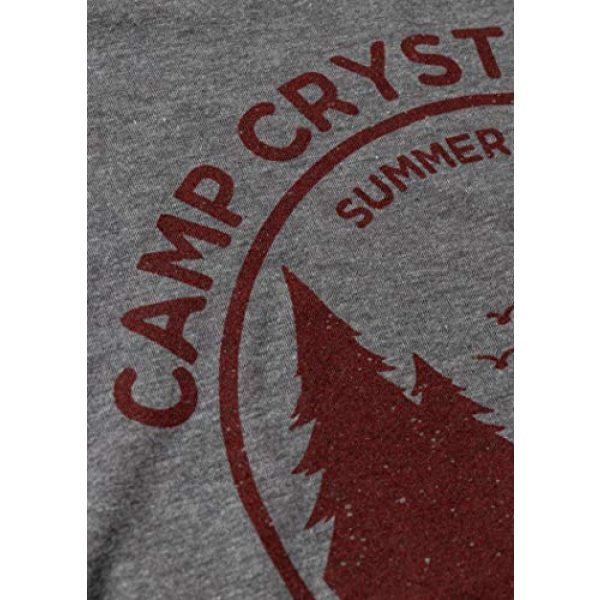 Ann Arbor T-shirt Co. Graphic Tshirt 5 1980 Camp Crystal Lake Counselor | Funny 80s Horror Movie Fan Women Top T-Shirt