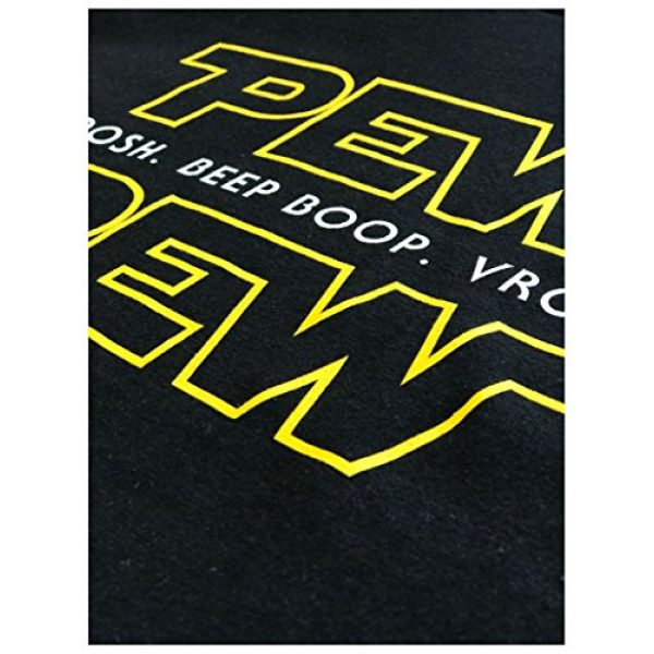 Ann Arbor T-shirt Co. Graphic Tshirt 5 Pew Pew Wars | Funny Sci-fi Space Star Noises Science for Geek Men Women T-Shirt