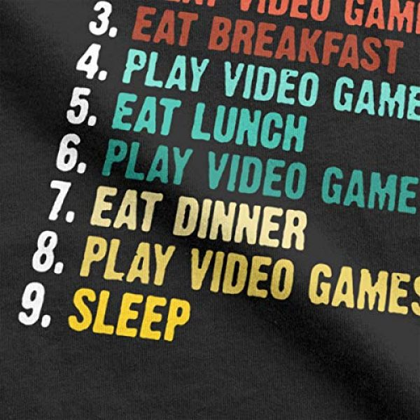 CHAMPRINT Graphic Tshirt 3 My Perfect Day Funny T Shirt Video Games Gamer Gift Tees Tops for Men