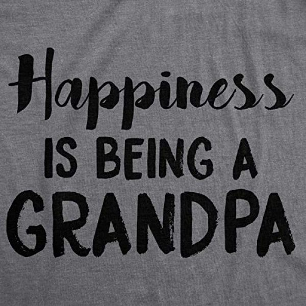 Crazy Dog T-Shirts Graphic Tshirt 2 Mens Happiness is Being a Grandpa Funny Papa Family Graphic Fathers Day T Shirt