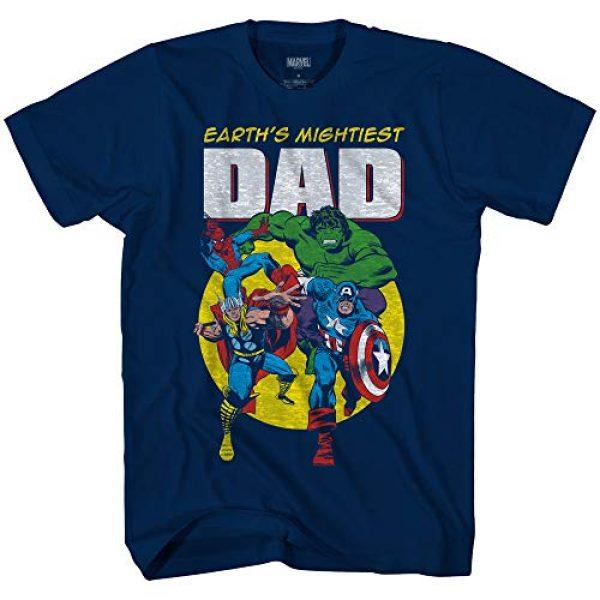 Marvel Graphic Tshirt 1 Avengers Mightiest Dad Hulk Captain America Graphic Adult T-Shirt