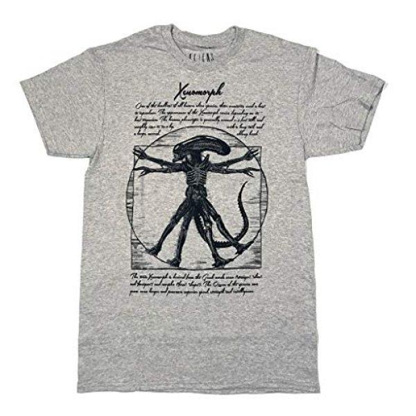Changes Graphic Tshirt 1 Alien Vitruvian Leonardo Da Vinci Adult T-Shirt, Grey