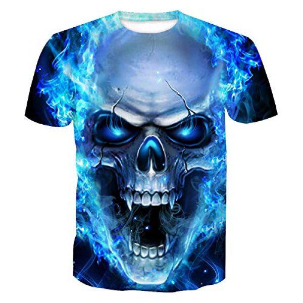 Volanic Graphic Tshirt 1 Unisex 3D Digital Printed Pattern Short Sleeve T-Shirts for Men Women