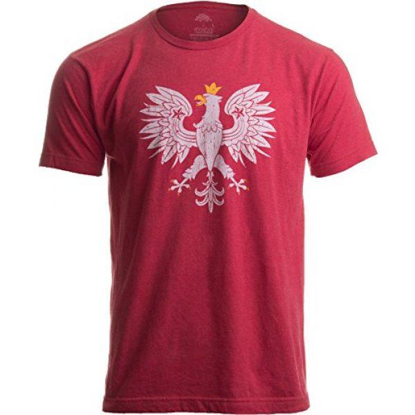 Ann Arbor T-shirt Co. Graphic Tshirt 1 Poland Pride | Vintage Style, Retro-Feel Polish Eagle Polska Unisex T-Shirt