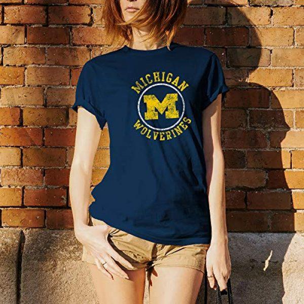 UGP Campus Apparel Graphic Tshirt 5 NCAA Distressed Circle Logo, Team Color T Shirt, College, University
