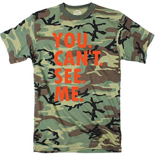 Crazy Dog T-Shirts Graphic Tshirt 1 Mens You Cant See Me T Shirt Funny Hunting Camouflage Sarcastic Adult Humor Tee