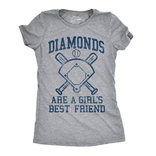 Crazy Dog T-Shirts Graphic Tshirt 1 Womens Diamonds are A Girls Best Friend Tshirt Funny Cute Baseball for Ladies