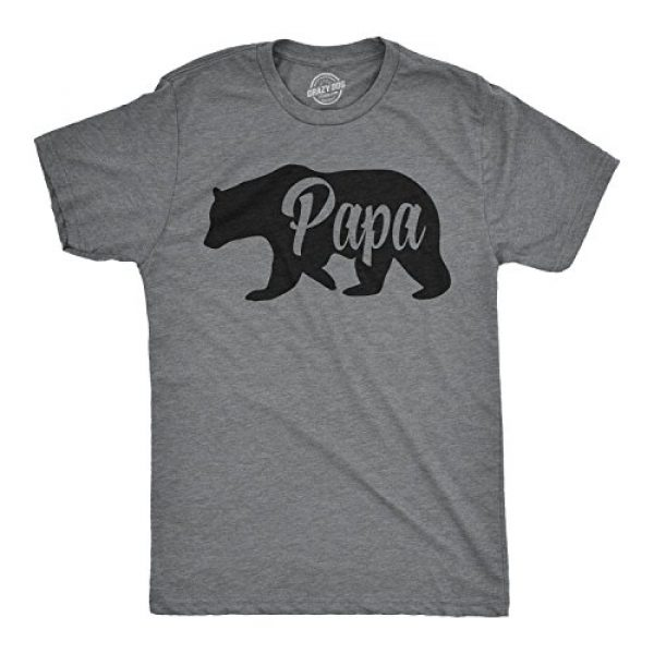 Crazy Dog T-Shirts Graphic Tshirt 1 Mens Papa Bear Funny Shirts for Dads Gift Idea Humor Novelty Tees Family T Shirt