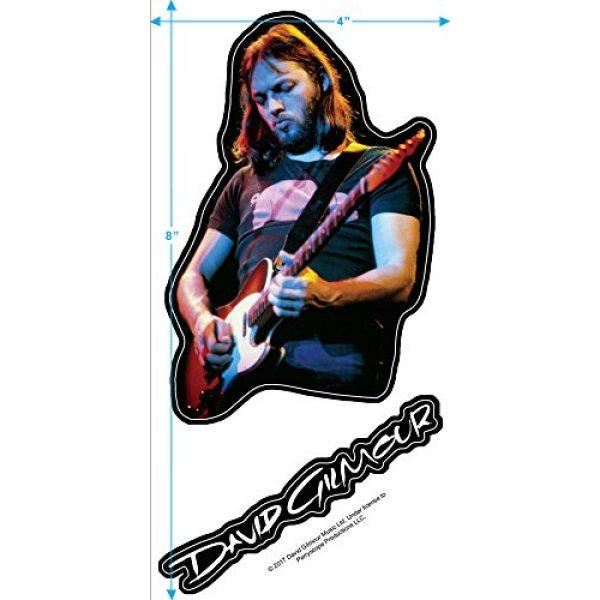 Popfunk Graphic Tshirt 3 David Gilmour Pink Floyd Guitar T Shirt & Stickers