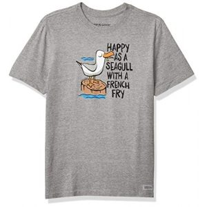 Life is Good Graphic Tshirt 1 Mens Crusher Beach/Ocean Graphic T-Shirt