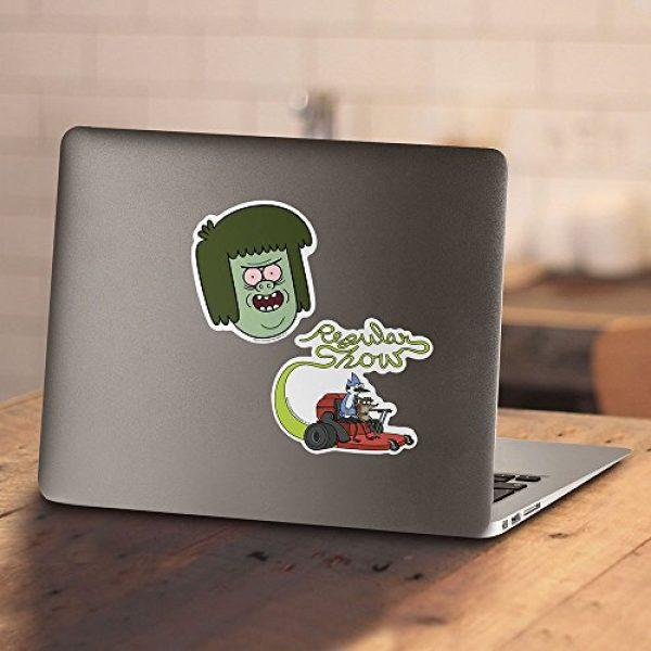 Popfunk Graphic Tshirt 4 Regular Show Muscle Man Cartoon Network T Shirt & Stickers