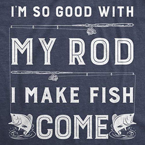 Crazy Dog T-Shirts Graphic Tshirt 2 Mens Im So Good with My Rod I Make Fish Come T Shirt Funny Sarcastic Fishing Tee