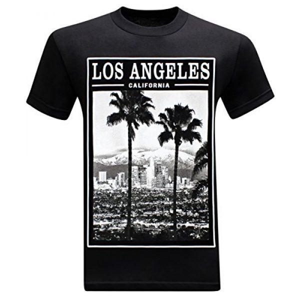 tees geek Graphic Tshirt 1 California Republic Los Angeles Twin Palms Men's T-Shirt