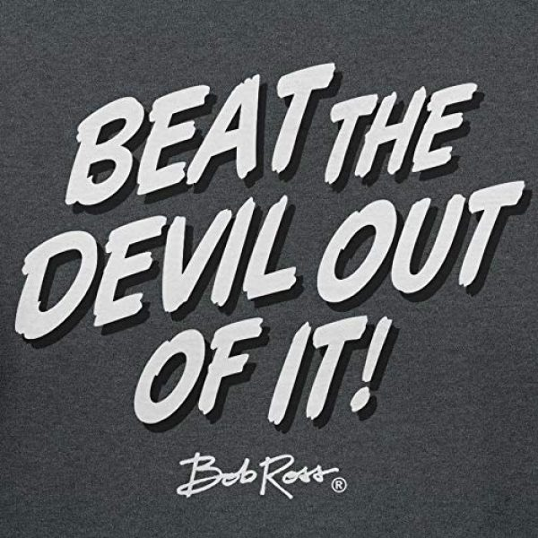 Teelocity Graphic Tshirt 3 Bob Ross Beat The Devil Out of it Graphic T-Shirt