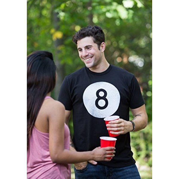 Ann Arbor T-shirt Co. Graphic Tshirt 5 Vintage Faded 8 Ball | Pool Hall Shark Billiards Player Hustler Unisex T-Shirt