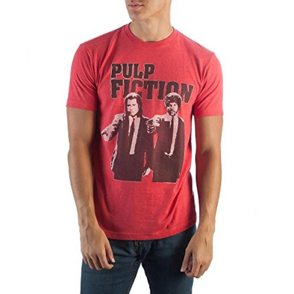 Pulp Fiction Graphic Tshirt 1 Red Heather T-Shirt