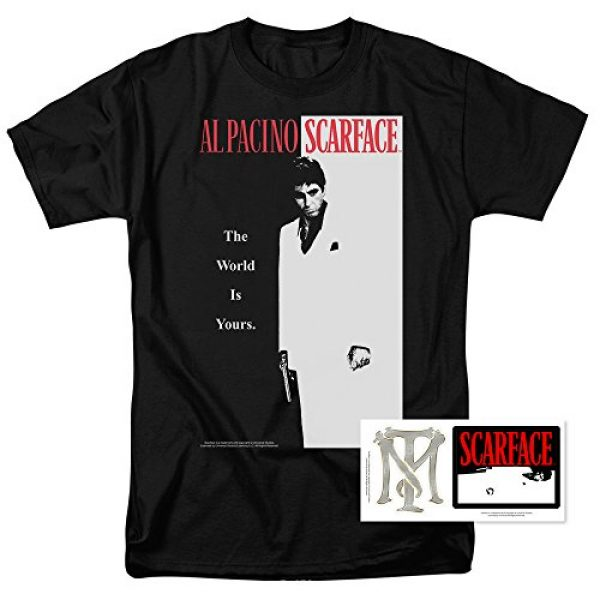 Popfunk Graphic Tshirt 2 Scarface The World is Yours T Shirt & Stickers