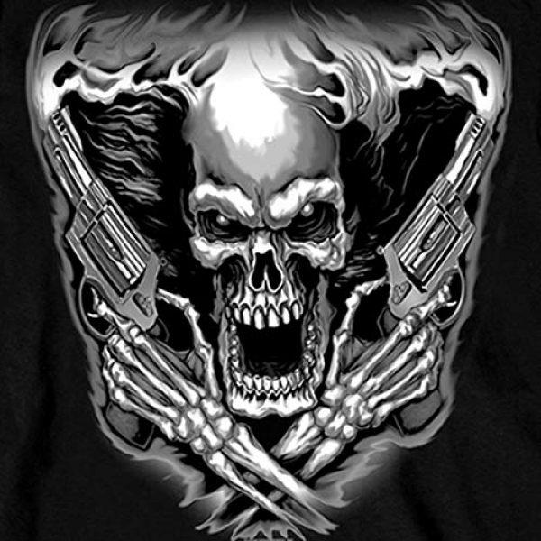 Hot Leathers Graphic Tshirt 3 Hot Leathers Assassin Double Sided Long Sleeve T-Shirt (Black, Medium)