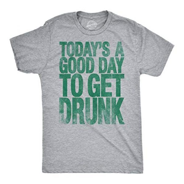 Crazy Dog T-Shirts Graphic Tshirt 1 Mens Good Day to Get Drunk Funny Drinking Beer Saint Patricks Day St T Shirt