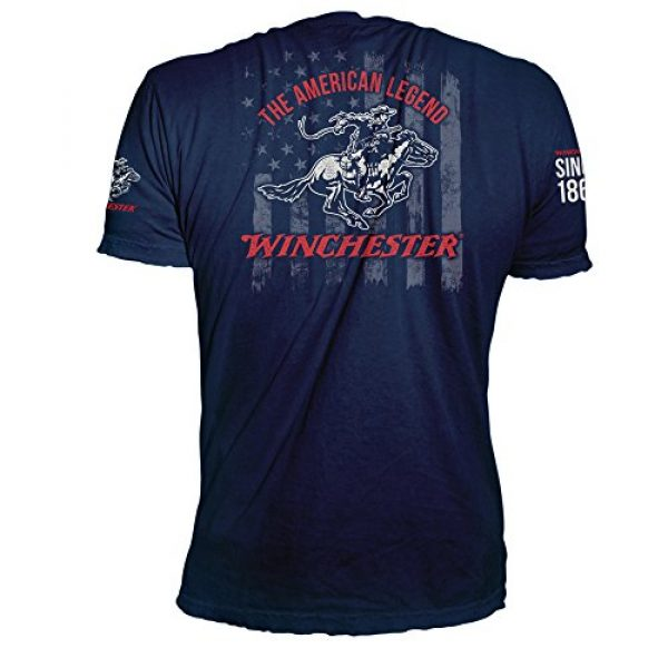 WINCHESTER SHIRTS Graphic Tshirt 1 Winchester The American Legend Stars and Stripes Vintage US Flag Graphic T-Shirt for Men