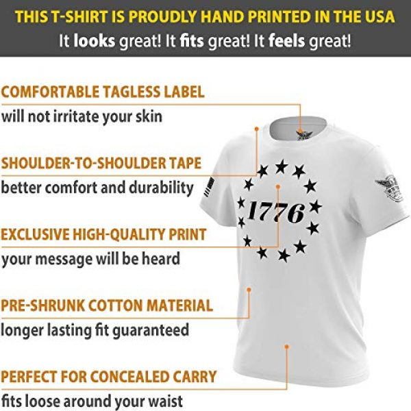 We The People Holsters Graphic Tshirt 6 1776 Betsy Ross Flag - Short Sleeve Unisex T-Shirt