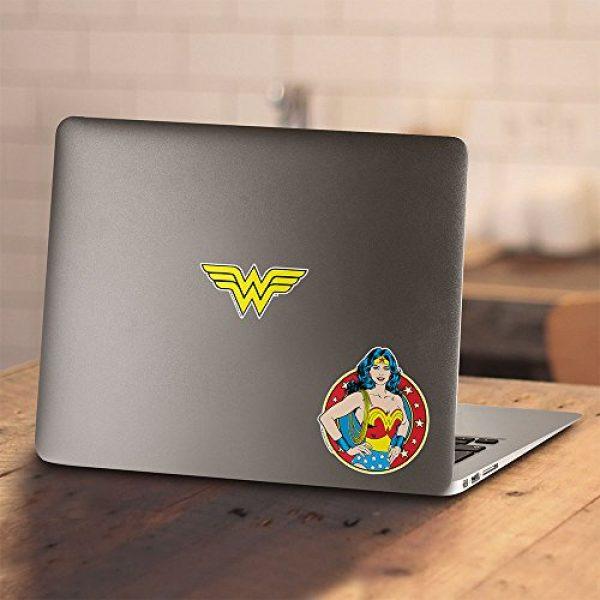 Popfunk Graphic Tshirt 4 Wonder Woman Vintage Logo DC Comics Longsleeve T Shirt & Stickers