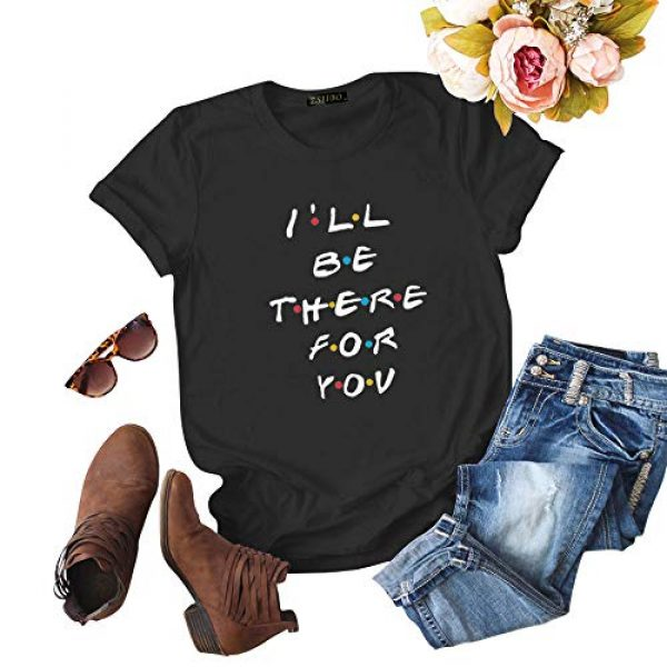 ZSIIBO Graphic Tshirt 1 Women's Casual T Shirt Funny Letter Print Graphic Tees Cute Tops