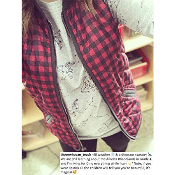 LAVIELENTE FASHION Graphic Tshirt 7 LaVieLente Women's Cotton Long Sleeve Graphic Sweatshirt Crewneck Pullover