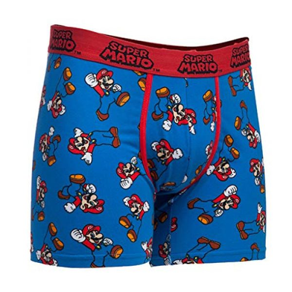 Nintendo Graphic Tshirt 2 Men's Video Game Character Boxer Brief Underwear and T-Shirt Set
