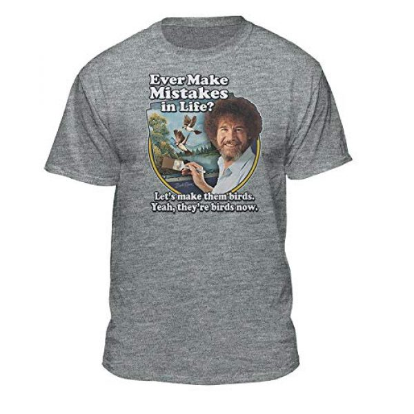 Teelocity Graphic Tshirt 4 Bob Ross Make Mistakes Into Birds Official Licensed T-Shirt