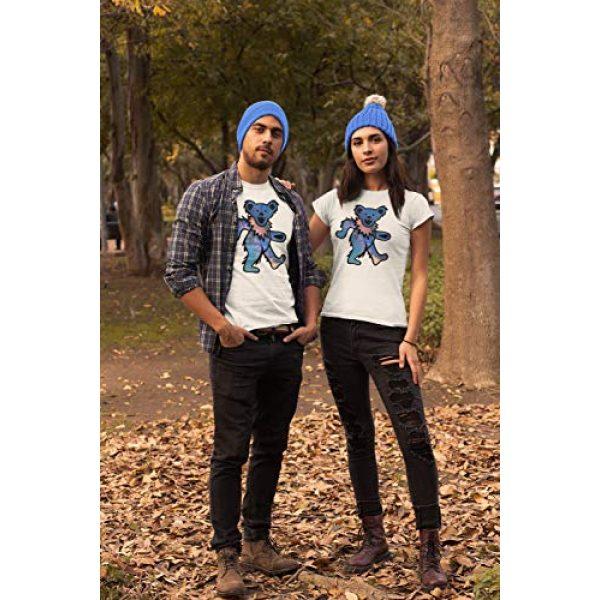 Ripple Junction Graphic Tshirt 4 Grateful Dead Juniors Space Bear Light Weight 100% Cotton Crew T-Shirt