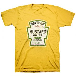 Kerusso Graphic Tshirt 1 Men's Mustard Seed - Faith Moves Mountains T-Shirt - Daisy -