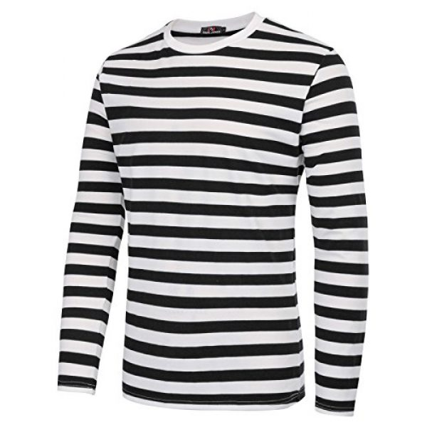 PJ PAUL JONES Graphic Tshirt 4 Men's Basic Striped T-Shirt Crew Neck Cotton Shirt