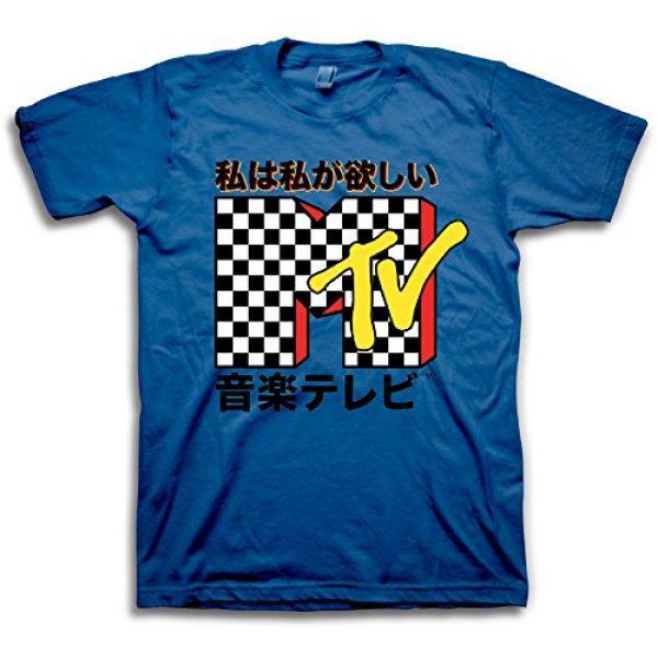 MTV Graphic Tshirt 1 Mens Shirt with Checkerboard - #TBT Mens 1980's Clothing - I Want My T-Shirt