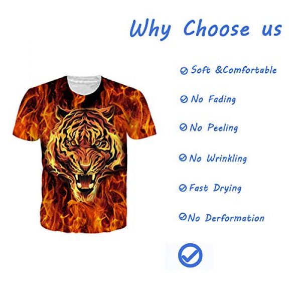 Goodstoworld Graphic Tshirt 5 Unisex Personalized Novelty 3D Printed T-Shirts Short Sleeve Tops Tees
