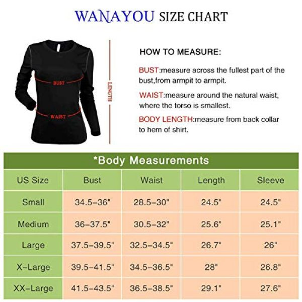 WANAYOU Graphic Tshirt 4 Women's Compression Shirt Dry Fit Long Sleeve Running Athletic T-Shirt Workout Tops