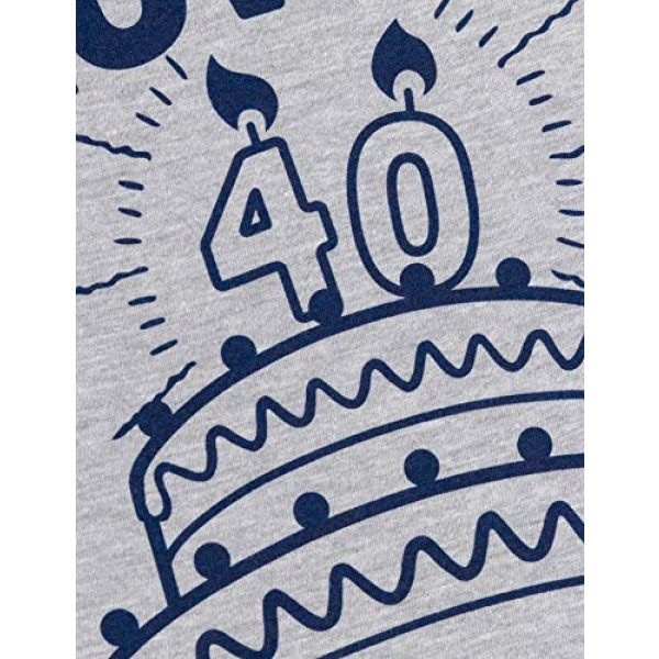 Ann Arbor T-shirt Co. Graphic Tshirt 5 Blow Me (40th Birthday Candles) | Funny Offensive Inappropriate Sarcastic 40 Joke T-Shirt for Men