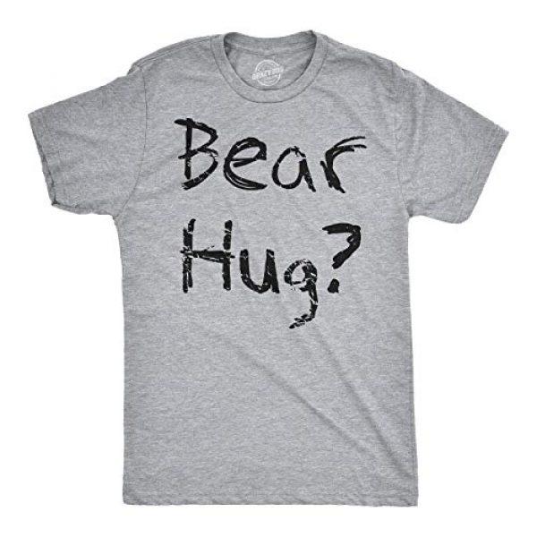 Crazy Dog T-Shirts Graphic Tshirt 2 Mens Grizzly Bear Flip T Shirt Funny Hug Shirt Humorous Novelty Tee Crazy Humor