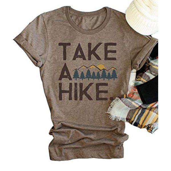 Xiaomomo Graphic Tshirt 1 Womens Take A Hike Printed Short Sleeves T-Shirt Casual Camping Hiking Graphic Tee Tops
